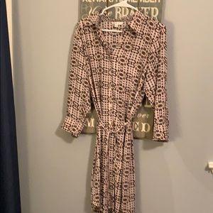 CAbi Belted Dress EUC Size Large